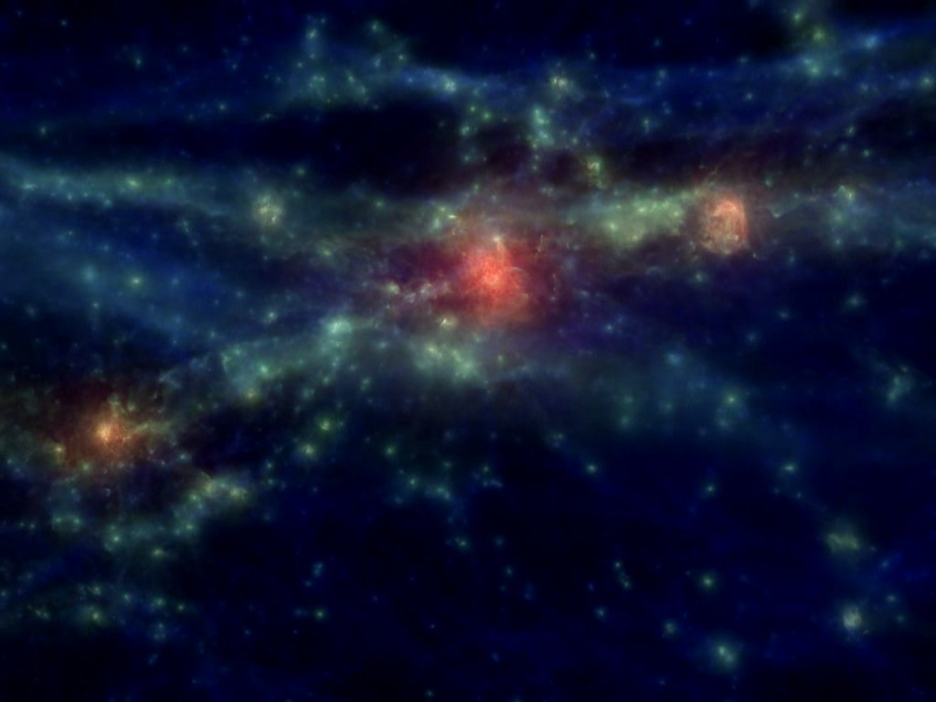 Simulated Galaxy Cluster: Temperature Evolution