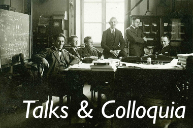 Talks & Colloquia
